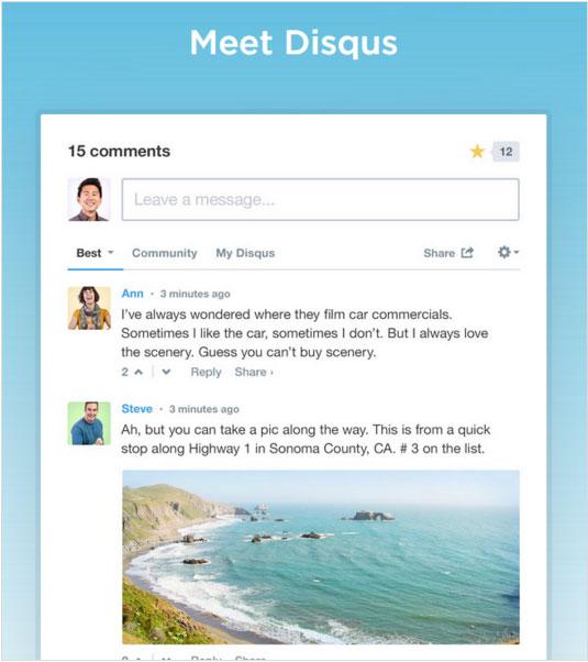 Disqus comments system