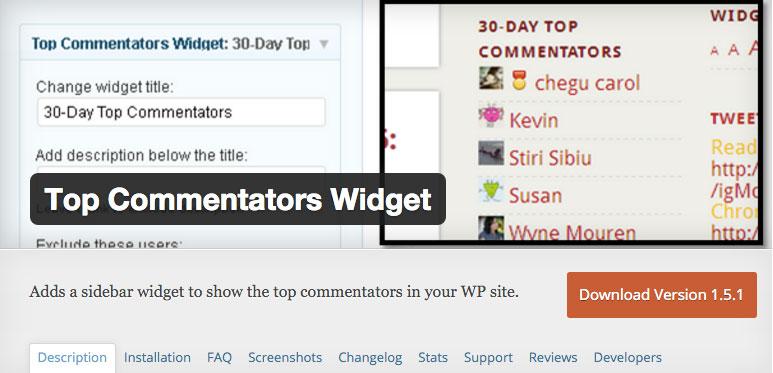 Top commentators widget