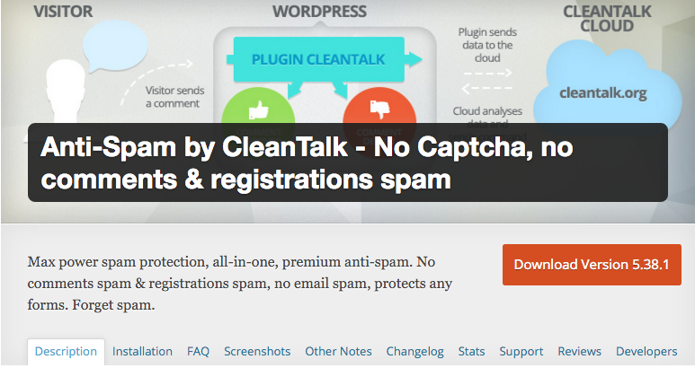 Anti-spam by clean talk