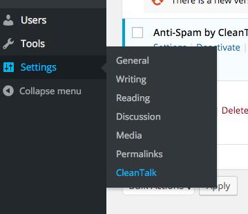 Antispam settings