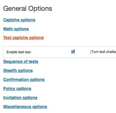 SABRE WordPress user spam registration control plugin