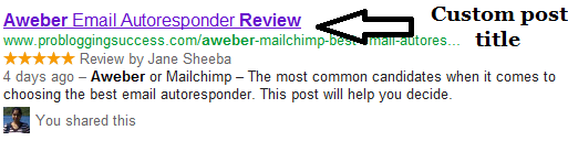 Thesis Theme Post SEO post title on SERP