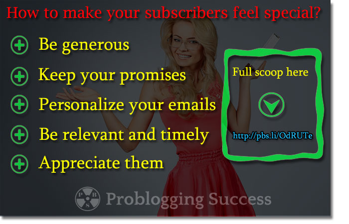 Make your subscribers feel special