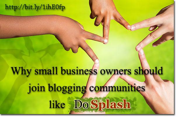 Join blogging communities