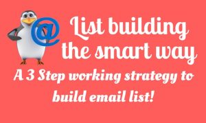 Email List Building: How to build an email list (A 3-Step Working Strategy)