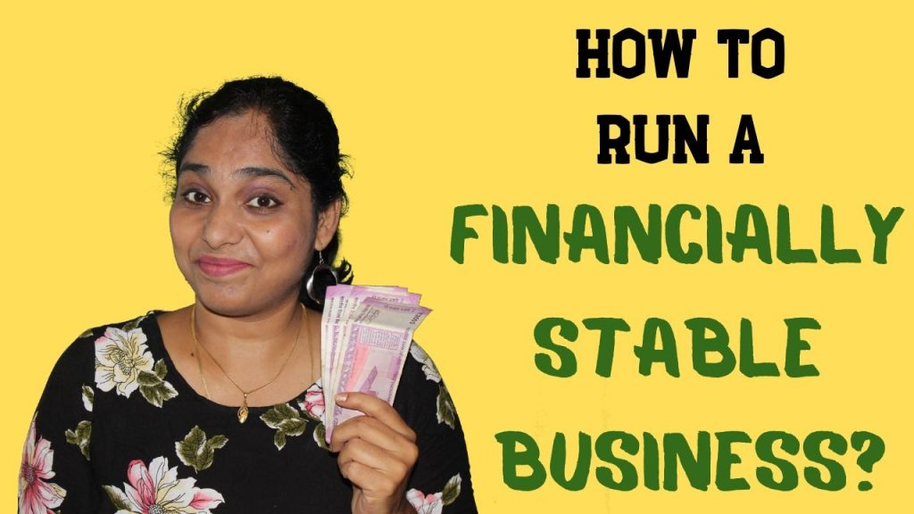 How to run a financially stable business